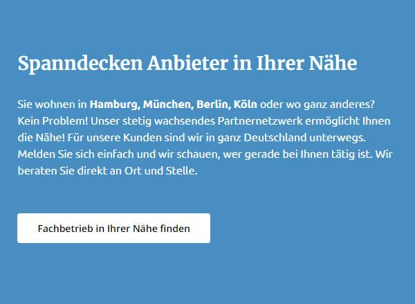 Spanndecken Beratung für 48431 Rheine
