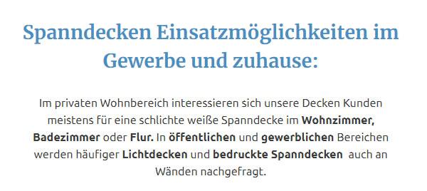 bedruckte Spanndecken für 50126 Bergheim, Kerpen (Kolpingstadt), Pulheim, Frechen, Elsdorf, Bedburg, Rommerskirchen oder Niederzier, Grevenbroich, Merzenich